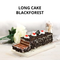 Long Cake Black Forest - Bolu Gulung Roll Cake - Kue Diana Bakery
