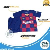 Terbaru Baju Bola Anak Barcelona Barca Messi Kids 2019/2020 Setelan