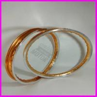 Velg twotone model tdr lebar 140 ring 17 sepasang depan belakang by ro