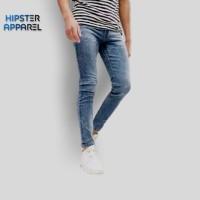 HIPSTER Celana Panjang Jeans Pria Warna Sandwash Blue Black