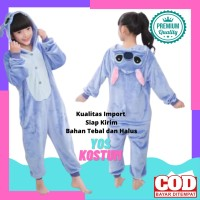 Kostum Karakter Anak Stitch Baju Tidur Lucu Animal Import Onesie