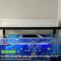 Tutup Top Filter Talang Aquarium/Filter Atas Aquarium Costum Per 1 Cm