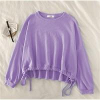 Sweater wanita Rope Crop bahan spandex pe size fit L