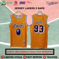 JERSEY BASKET NBA BAJU BASKET NBA CLASSIC LOS ANGELES LAKERS x BAPE - S