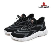 Larocking - Arrow Hitam   Sepatu Sneakers Running Gym Shoes - Hitam, 39