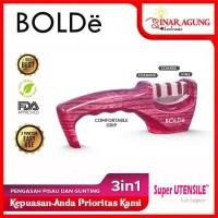 BOLDe Super Utensil Pengasah Pisau / Knife Sharpener PINK 100% ORI