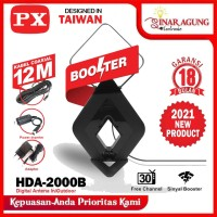 PX ANTENA DIGITAL IN/OUT DOOR HDA2000 HDA-2000 HDA 2000 B - HITAM