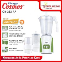 COSMOS BLENDER PLASTIK 2 LITER GOBLET ANTI PECAH CB 282 AP - GREEN
