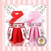 Baju Imlek Tradisional Princess Han Disney Untuk Anjing Dan Kucing