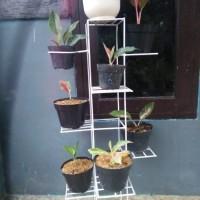 standing pot bunga besi 8 susun / rak pot bunga besi