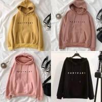 Sweater wanita hoodie model Part Part bahan babyterry size fit L
