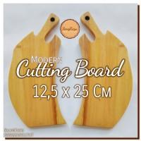 Modern Cutting Board 12,5 x 25 Cm Talenan kayu modern unik Rustic 10