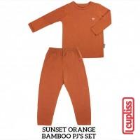 Sunset Orange Little Palmerhaus Bamboo PJS Piyama Anak