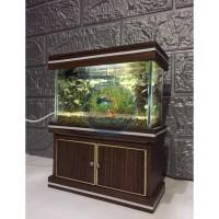 Aquarium mini full set + kabinet (free pasir) BACA DESKRIPSI TERLEBIH