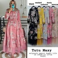 Baju Gamis Wanita Muslimah Maxi Dres Setelan Katun Syari Muslim Dewasa