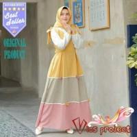 Dress muslim wanita syari busana muslimah cewek baju jubah santai