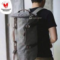 BARREL / Drumbag / Tas Tabung / Tas Kanvas / Travelling Bag / Ransel
