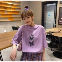 Atasan oversize baju Best Butterfly korean bahan spandex size fit L