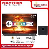POLYTRON LED TV PLD 55 INCH 55BU8850 FRAMELESS 4K ULTRA HD