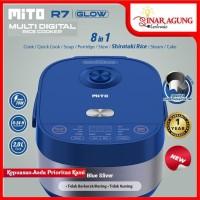 MITO MULTI DIGITAL RICE COOKER R7 GLOW [2 LTR / 8IN1] - BLUE SILVER