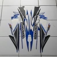 sticker honda supra x 125 2007 hitam-biru