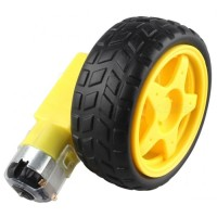 Roda Ban Robot Wheel Mini DC Gear Gearbox motor Tyre Smart Car