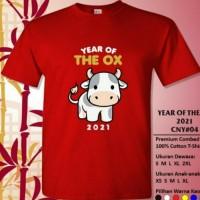 KAOS BAJU IMLEK 01 YEAR OF OX 47 - kaos imlek sapi anak abu - KAOS - - 2