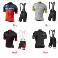 Jersey Set SPECIALIZED Baju dan Celana Bib Bahan Premium