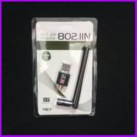 USB WiFi 150Mbps wireless adapter 150m + antena 2dBi penangkap sinyal
