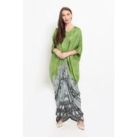 Rayya Jumputan D0175,Baju Terusan Pesta Dress wanita modern Nona Rara