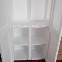 Lemari Plastik Club Spectra Large Premium Quality- Putih/Slchr Hanger
