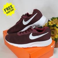 Sepatu Nike Tanjun Merah Maroon/SepatuOlahraga/Sepatu pria& wanita