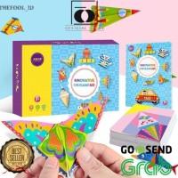 folding character m7 origami paper edukasi kreatifitas anak