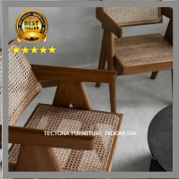 Kursi Hotel Resto Cafe Rotan Rattan Jati Teras Bangku Santai Vintage