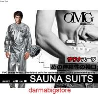 Baju Sauna Baju Olahraga Bakar Kalori Keringat Jaket Celana OMG ORI -M