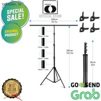 Stand Background Backdrop Photography T-Shape 200x260cm with 4 Clamp