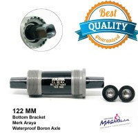Bottom Bracket / BB Axle 122 MM Sepeda MTB / As Tengah Bearing - Araya
