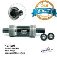 Bottom Bracket / BB Axle 127 MM Sepeda MTB / As Tengah Bearing - Araya