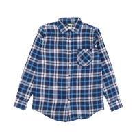 Russ Shirt Flanel Flux Blue Motif 7