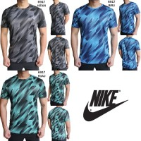 Kaos Olahraga Pria Nike 6917 Baju Gym Fitness Lari Cowok Training