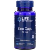 Life Extension, Zinc Caps 50 mg, High Potency,90 Vegan Capsule ORI USA
