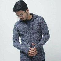 Terbaru Damsshop - Sweater Rajut Ariel Twist Twotone Cardigan (Unisex)