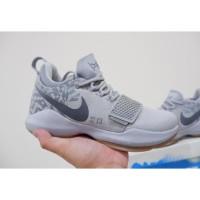 Sepatu Basket Sneakers Nike PG 1 Superstition Grey Gum Pria Wanita