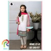 Setelan baju india anak perempuan / setelan baju muslim senshukei 17-g