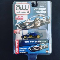 Auto World Ford GT-40 Dirty Version Vintage Racing Blue GT40