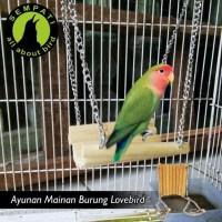 AYUNAN RANTAI MAINAN BURUNG LOVEBIRD
