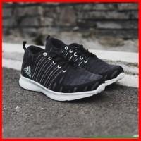 sepatu pria casual adidas running hitam sepatu slop sneakers murah