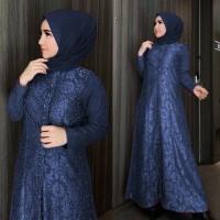 Setelan Baju Gamis Wanita Dewasa Panjang Muslim Jumbo Maxi Baju Syari