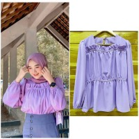 Sorya blouse wanita top bahan twiscone size fit xl