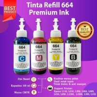 TINTA 664 T664 REFILL PRINTER EPSON BLACK COLOR L120 L350 L565 L555